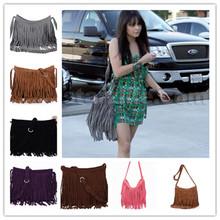 2015 HOT sale New Women's Fringe Messenger Shoulder Bag Handbag Ladies Tassel Crossbody Bag six colors high quality S620