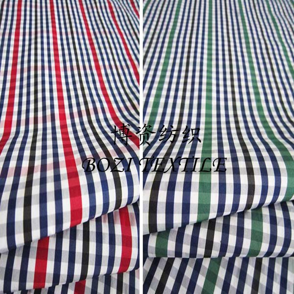 Hot Selling 100% Polyester Yarn-dyed Plaid Fabric for Shirts or Skirts