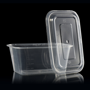 Most transparent and good toughness 1000ml disposable microwave pp food container