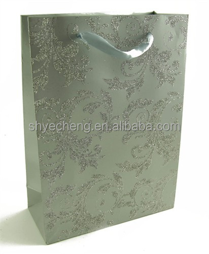 fashionable luxury glitter paper gift bag wholesaels manufacturer