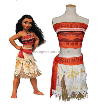 Halloween New Movie Moana Costume Moana Cosplay Dress For Kids
