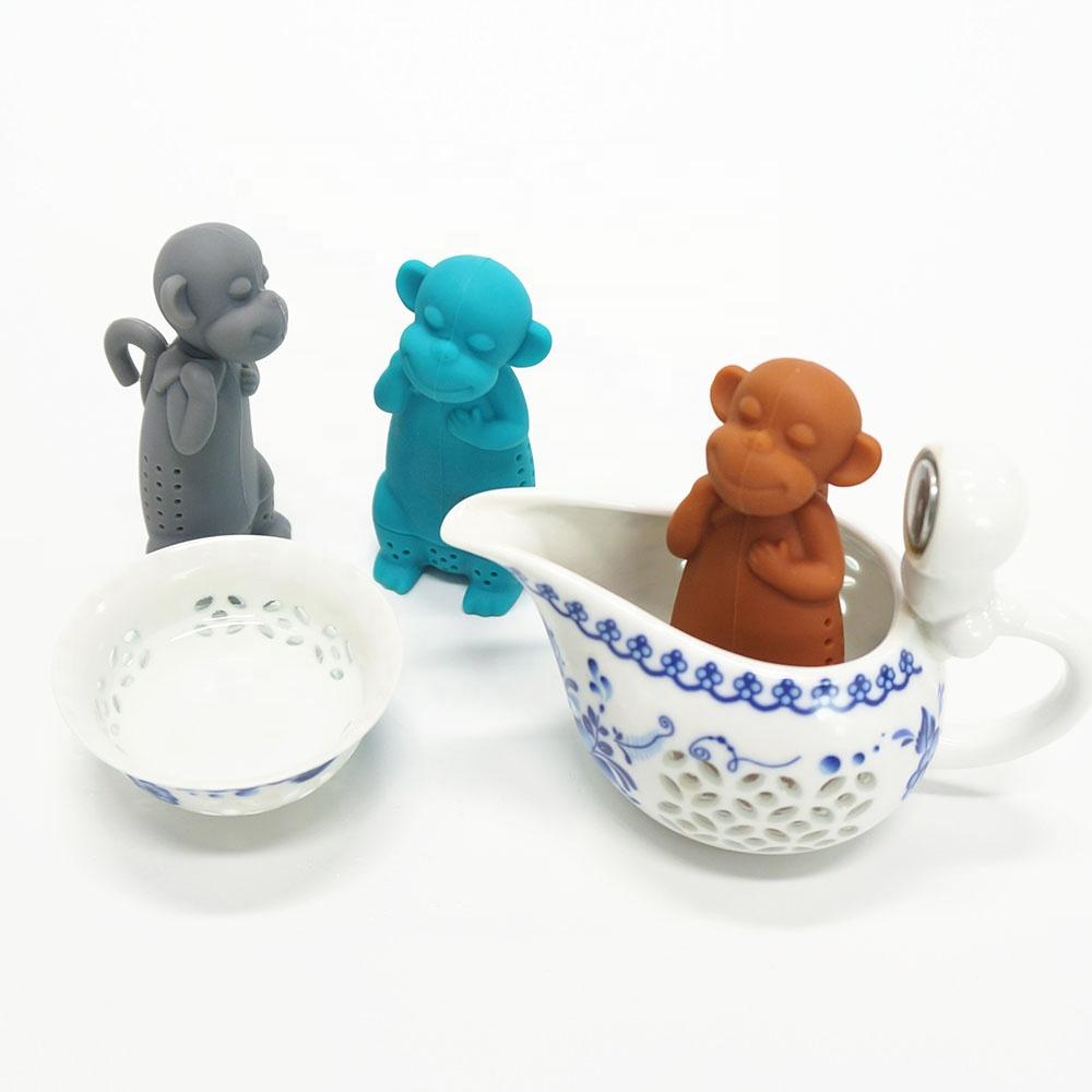 New Arrival BPA Free Silicone Tea Infuser Animal Shape Tea Maker