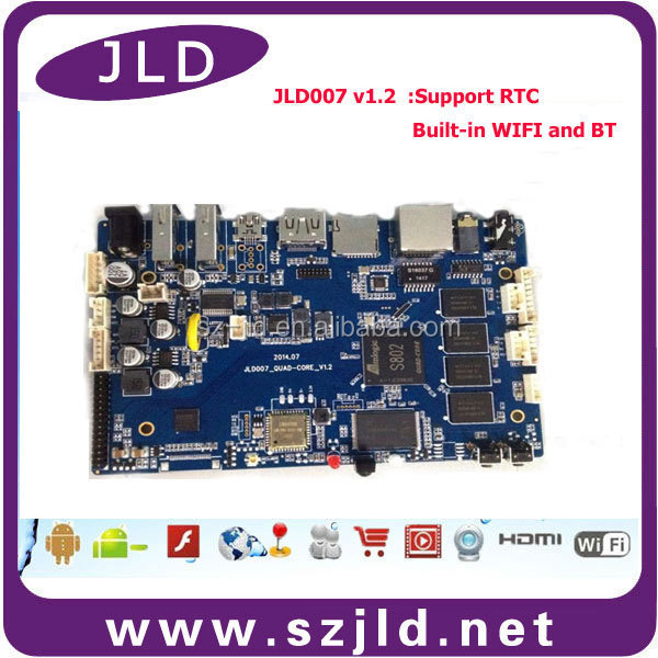 Wholesale friendly Arm A9 quad core board 8G flash android 4.4 mini PC development board