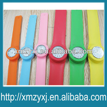kids & adult silicone slap band watches slap wrap wrist watch