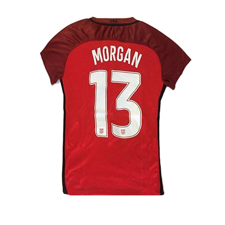 279548442ac Get Quotations · Jonsnow Brand Alex Morgan  13 US National Women s Home  Jersey Red