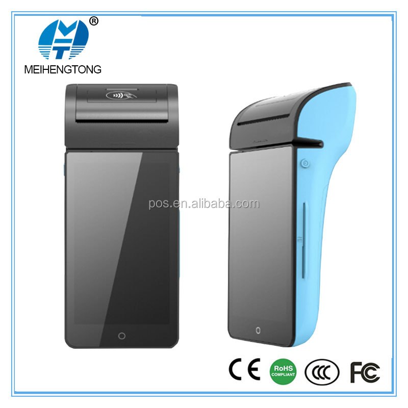 4G Android Handheld POS Thermal Printer with RFID Reader/Finger touch screen 3 inch thermal printer