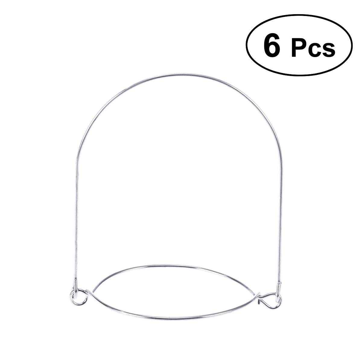BESTONZON 6pcs Mason Jar Wire Handles Stainless Steel Canning Jars Hanger for Regular Mouth
