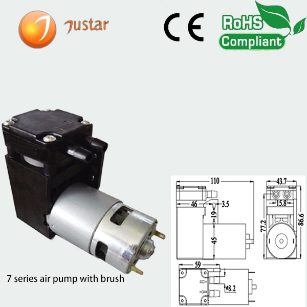 small diaphragm 12v dc motor air compressor pump