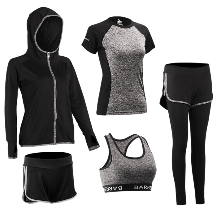 Frauen-BH-T-Shirt Sport-Sets Laufen Sport Yoga Gym Outfit Workout Athletic Suit Set