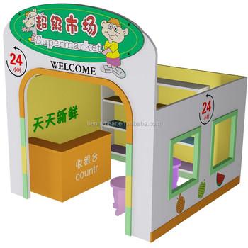 Muebles Infantiles Juguete Del Juego Del Papel Supermercado - Buy ...