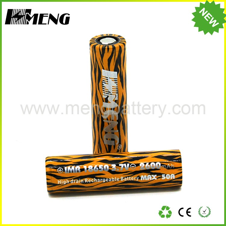 Wholesale China brand meng Tiger color 3.7v lithium li ion 18650 battery