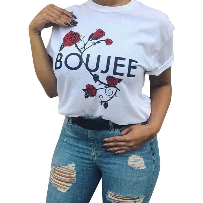 Get Quotations · Hmlai Hot Sale Women Fashion Short Sleeve White T-Shirts  Summer Casual Blouse Tops Shirt e3cefdac6b19