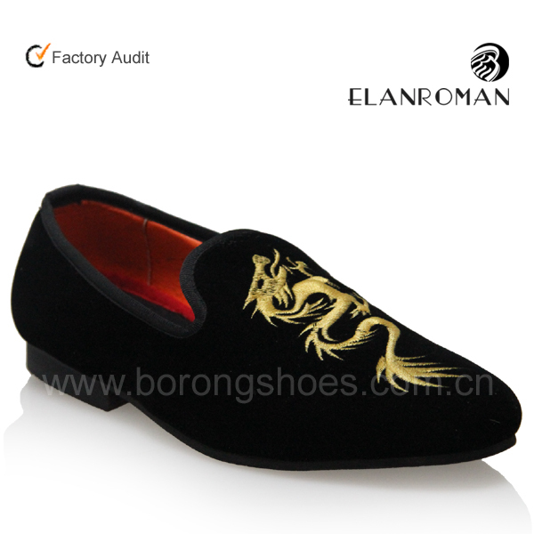 embroidered for loafers shoe men High workmanship BORONG gqwOSO