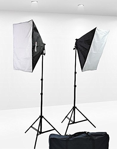 1600 Watt Softbox Lighting Kit Video Lighting Kit Two Softbox, 8 x 45watt Flourescent Bulb, 2 x lightstand by Fancierstudio 9004S