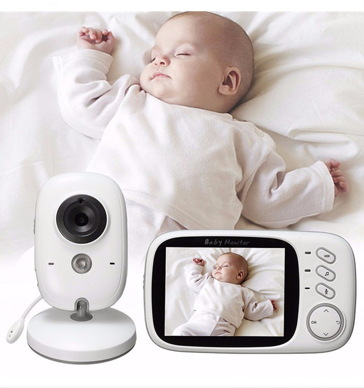 Dual-way voice/music wireless baby monitor breathing with app,infant security monitor with display
