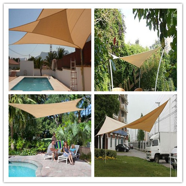 Waterproof Shades Sails Sun Patio Awnings Yard Outdoor Triangle Deck