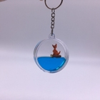 Cheap As Promotion Product Souvenir Liquid Floating Key Ring Acrylic Key Chain