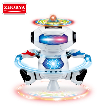 zhorya cheap 4 channel rc battery operated small robot toy