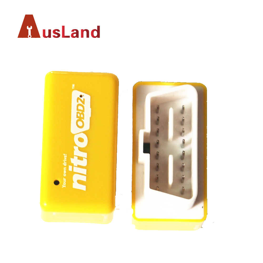 Car Fuel Save Nitro OBD2 Interface (Gasoline)Benzine ECU Chip Tuning BOX Car Diagnostic Scanner Yellow Color Nitro OBD2