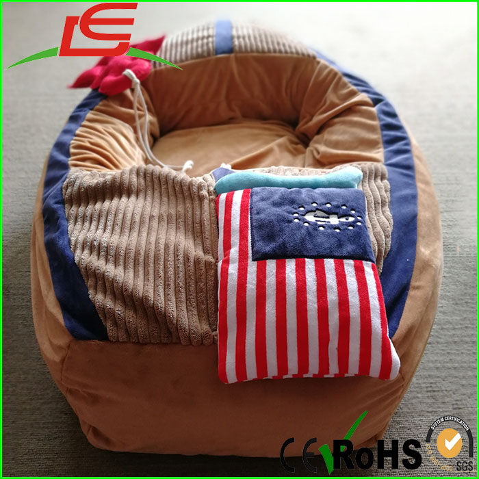 high quality stuffed plush pet toy boat shaped dog bed