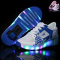 NEW 2016 Child Heelys Wheely s LED Light Roller Skate Shoes For Kids Girls Boys Breathable