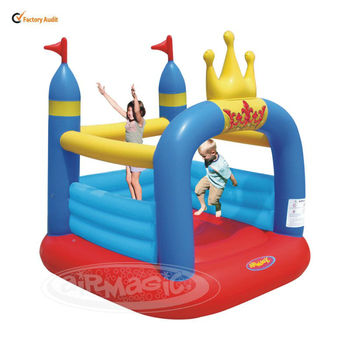 Small Castle Bounce Baby Gym Toy-8303 Crown Jumping PVC Castle