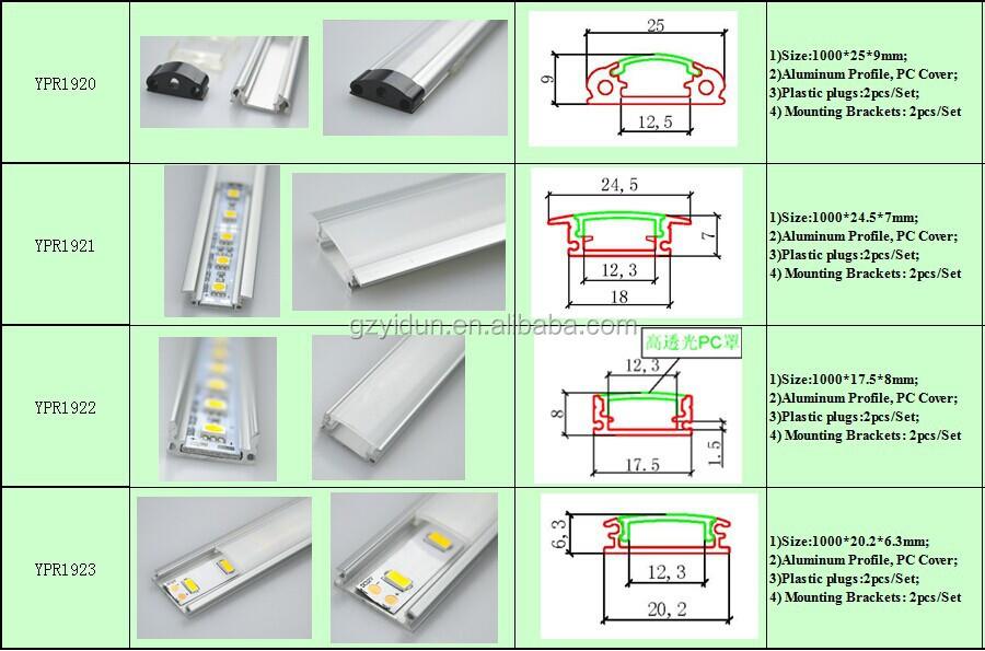 U Shape Aluminium Profile Led Strip Alu Profile Aluminium