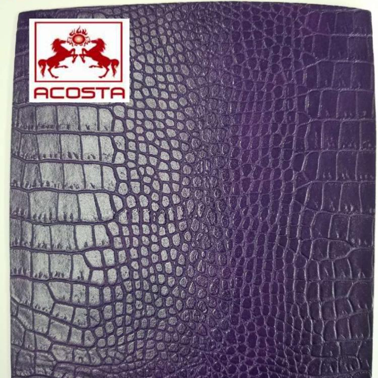 EMBOSSED ALLIGATOR GRAIN PU <strong>LEATHER</strong> FOR BAG SHOES MATERIALS