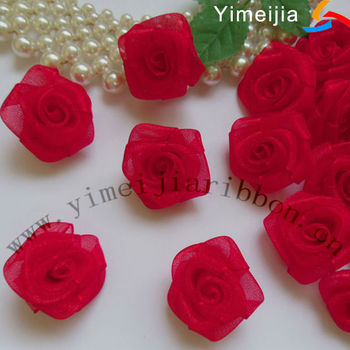 Organza ribbon flower buy organza ribbon flowerribbon flowers organza ribbon flower mightylinksfo