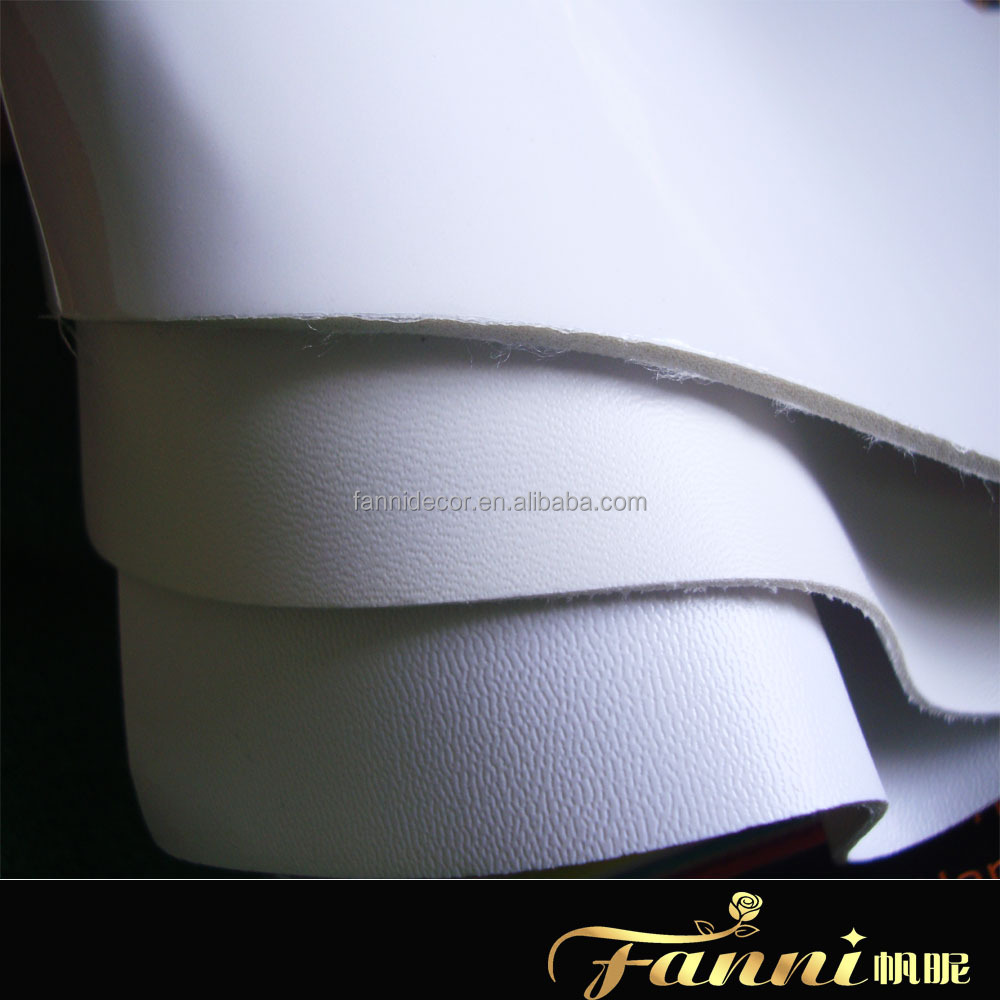 white color pvc leather for football making/football artifical leather white color/football raw material supplier