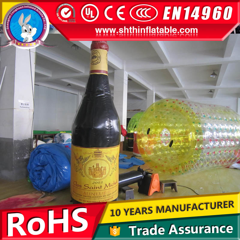 factory supply giant inflatable wine bottle