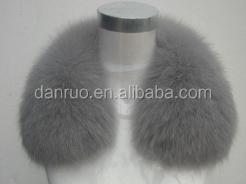 Fox fur collar fur accessories down jacket ribbon hair collar