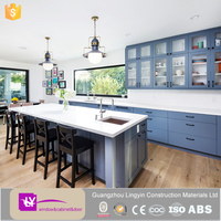 new modern mdf kitchen wall cabinets design with glass doors