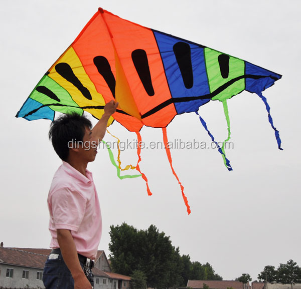 3m big colourful delta kite rainbow kite