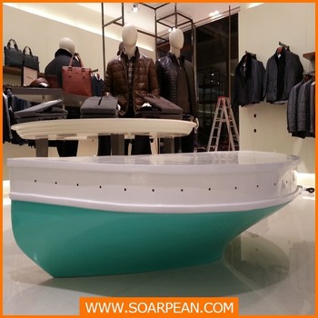 Window Display Props Decorative Fiberglass Boat