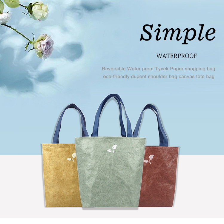 Reversible Water proof Tyvek Paper shopping bag eco-friendly dupont  shoulder bag canvas tote bag from China Manufacturer - Chiterion Limited