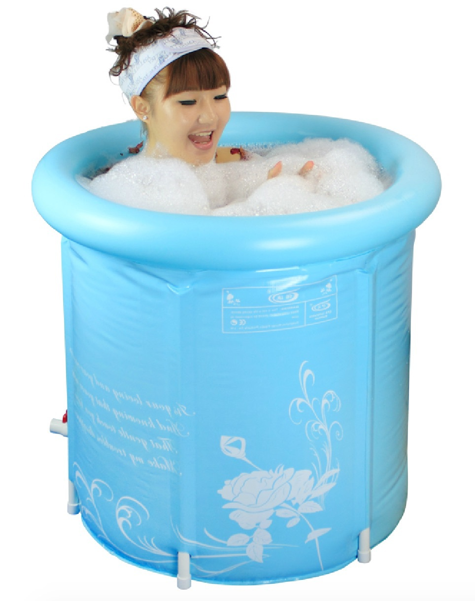 Buy 65CM thickening folding bath tub inflatable bath tub for <170CM ...