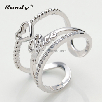 Mexican Style Stylish Design Love Alphabet Wedding Ring Buy