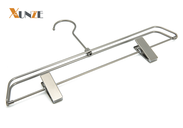 High quality pearl nickel plated metal pants slack trouser clothes hanger