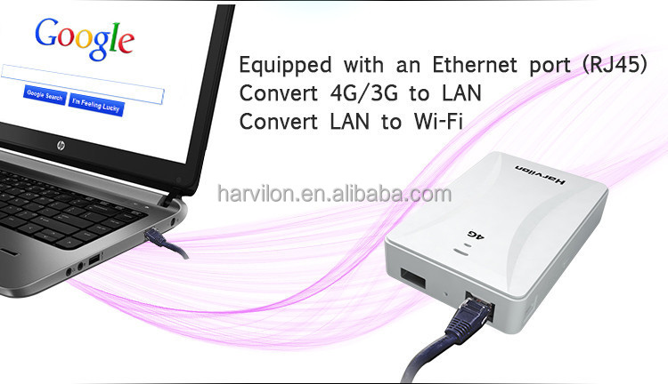 Mobile Hotspot RJ45 Port Wifi Router 100M 4G LTE Router, View laptop phone  pad used 3g 4g wifi modem, Harvilon Product Details from Shenzhen Harvilon
