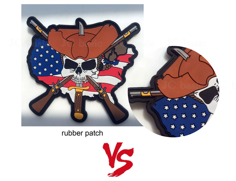 custom washable pvc subdued tactical emt patch