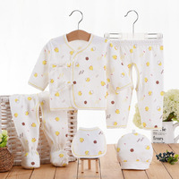 2017 high quality hot selling cheap baby 5pcs clothes newborn girls hot underwear winter suit set