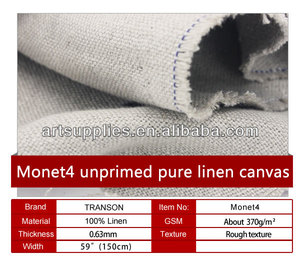 Unprimed Linen Canvas Rolls Wholesale, Linen Canvas Roll Suppliers