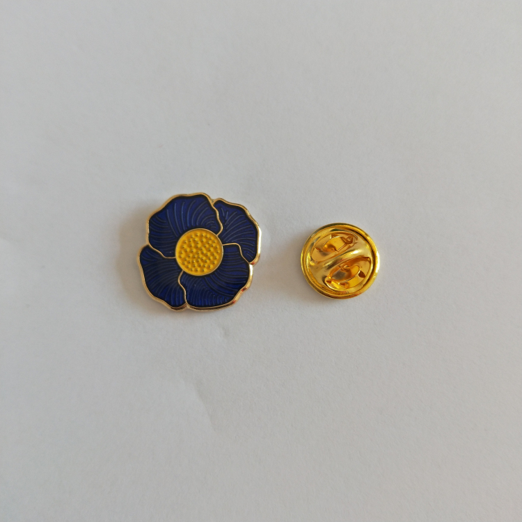 custom transparent  enamel poppy pin badge