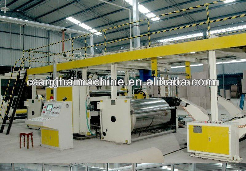 five layers high speed corrugated cardboard production line/packing line