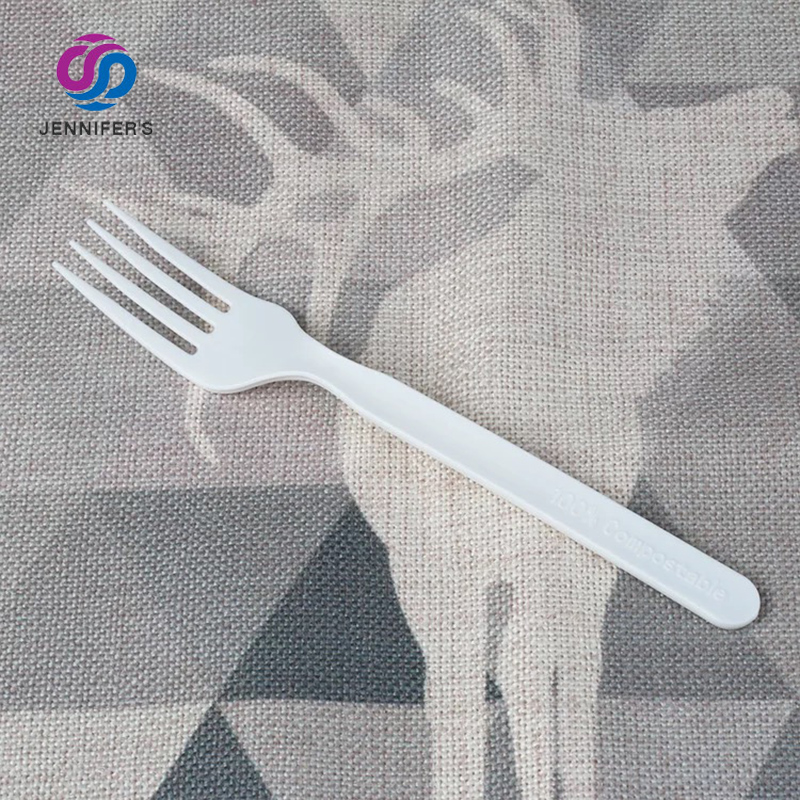 Biodegradable dinnerware eco friendly Disposable paper cutlery set dessert kitchen fruit spoon fork and knife set