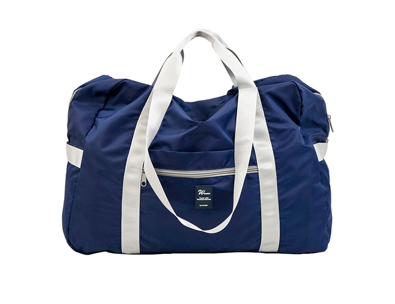 Get Quotations · iSuperb Waterproof Nylon Lightweight Foldable Travel  Duffle Bag Large Capacity Folding Duffel Clothes Organizer Sports Gear bf8c8085adba5