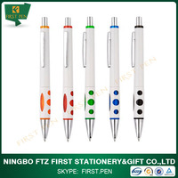 White Body Promotional Plastic Ball Pen With Logo