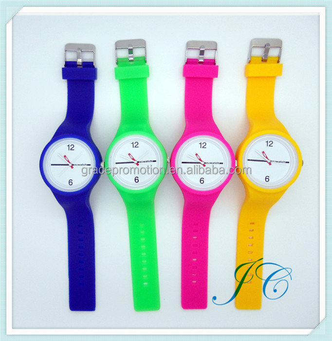 Colorful Watch Very Cheap Jelly Colors Silicone Soft Band Watch