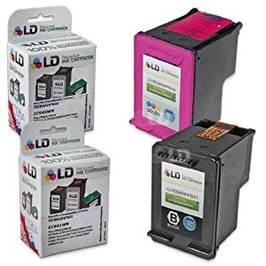 LD Remanufactured Ink Cartridge Replacements for HP CC641WN (HP 60XL) Black and HP CC644WN (HP 60XL) Color (1 Black and 1 Color)